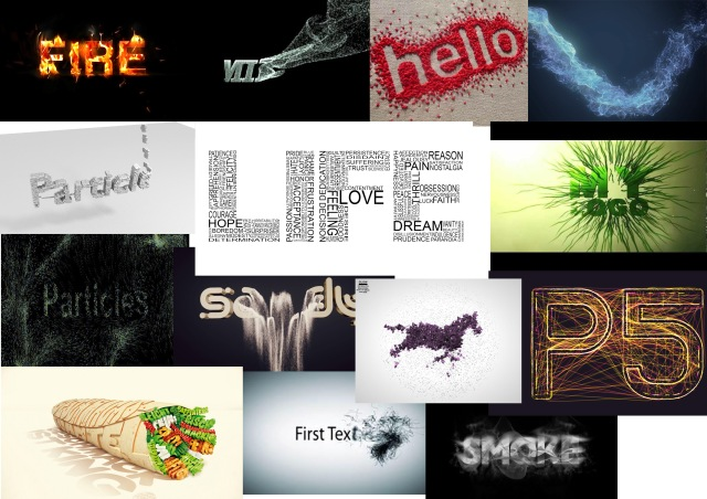 Particle Text Moodboard